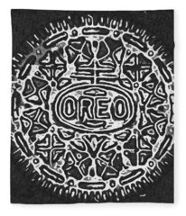 Black And White Oreo Fleece Blanket