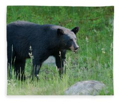 Black Bear Female Fleece Blanket