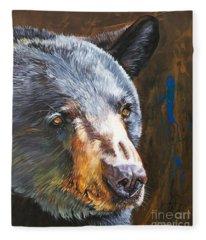 Black Bear The Messenger Fleece Blanket