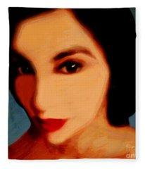 Black-eyed Beauty Fleece Blanket