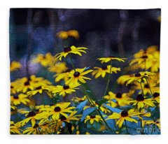Black-eyed Susans Fleece Blanket