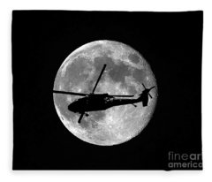 Black Hawk Moon Fleece Blanket