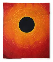 Black Hole Sun Original Painting Fleece Blanket