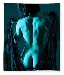 Black Lace Fleece Blanket