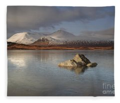 Black Mount And Lochan Na H-achlaise Fleece Blanket