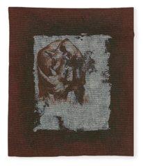 Black Rhino Fleece Blanket