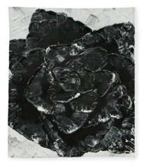 Black Rose I Fleece Blanket