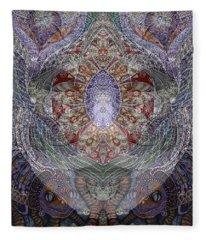 Black Venice Fleece Blanket