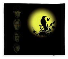 Blackbird Singing In The Dead Of Night Fleece Blanket