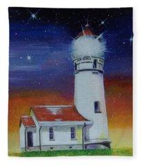 Blanco Lighthouse Fleece Blanket