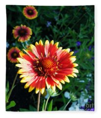Blanket Flower Fleece Blanket