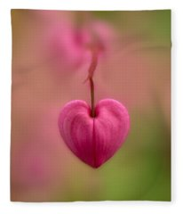 Bleeding Heart Flower Fleece Blanket