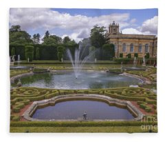 Blenheim Palace With Its Water Terrace Fleece Blanket