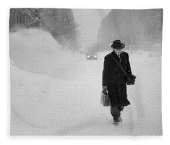 Blizzard On Park Avenue Fleece Blanket