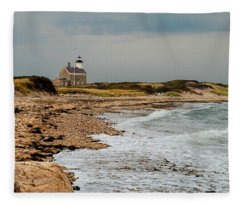Block Island North Lighthouse  Fleece Blanket