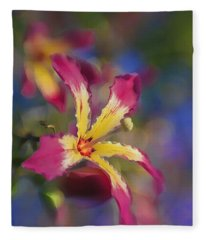 Bloomin Hong Kong Orchid Fleece Blanket