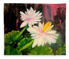 Blooming At Night  Fleece Blanket