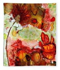 Blooming Impressions.. Fleece Blanket