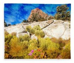 Blooming Nevada Desert Near Ely Fleece Blanket