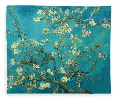Blossoming Almond Tree Fleece Blanket