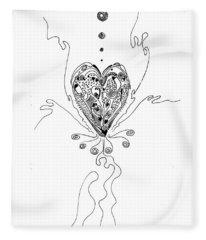 Blossoming Love Fleece Blanket