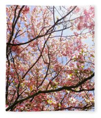 Blossoming Pink Fleece Blanket