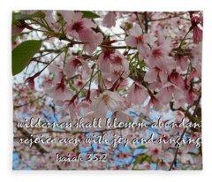 Blossoms Rejoice Fleece Blanket