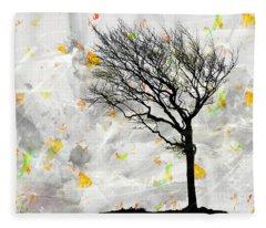 Blowing It The Wind Fleece Blanket