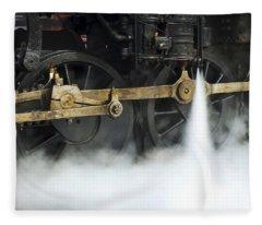 Blowing Of Steam Fleece Blanket