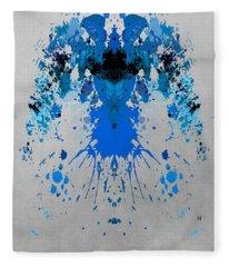 Blue Alien Fleece Blanket