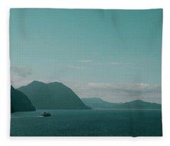 Blue As Fjord Fleece Blanket