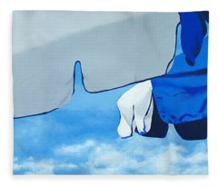 Blue Beach Umbrellas 2 Fleece Blanket