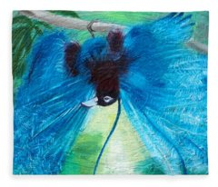 Blue Bird Of Paradise Fleece Blanket