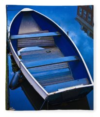 Blue Boat Fleece Blanket