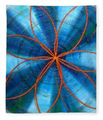 Blue Chakra Fleece Blanket