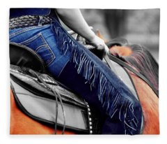 Blue Chaps Fleece Blanket