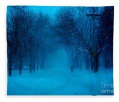 Blue Chicago Blizzard  Fleece Blanket