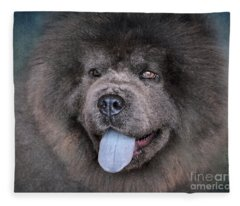 Blue Chow Chow Fleece Blanket