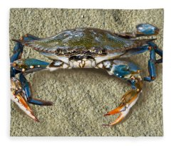 Blue Crab Confrontation Fleece Blanket