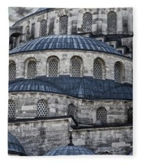 Blue Dawn Blue Mosque Fleece Blanket