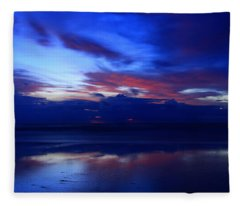 Deep Dawn Ponte Vedra Fleece Blanket