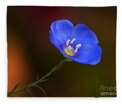 Blue Flax Blossom Fleece Blanket