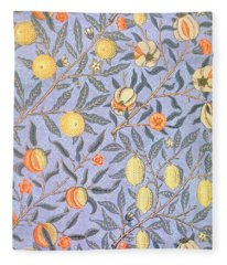 Blue Fruit Fleece Blanket