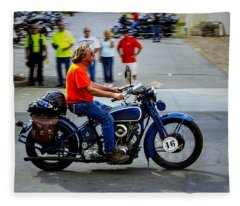 Blue Harley 46 Fleece Blanket