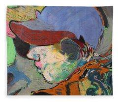 Blue Hat Jockey Fleece Blanket