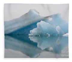 Blue Icebergs Fleece Blanket