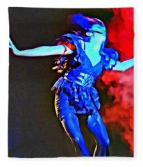 Blue Lady Dancer Fleece Blanket