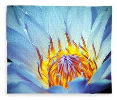 Blue Lotus Fleece Blanket