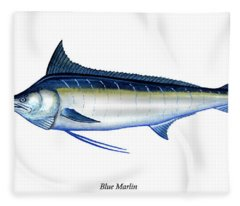 Blue Marlin Fleece Blanket