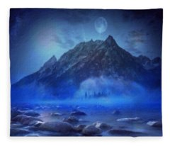 Blue Mist Rising Fleece Blanket